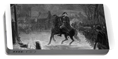 Washington At The Battle Of Trenton Portable Battery Charger by War Is Hell Store