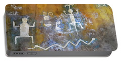 Watchtower Rock Art  Portable Battery Charger by Julie Niemela