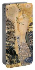 Water Serpents I Portable Battery Charger by Gustav klimt
