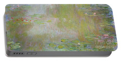 Waterlilies At Giverny Portable Battery Charger by Claude Monet