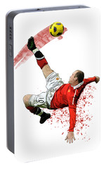 Wayne Rooney Portable Battery Charger by Armaan Sandhu