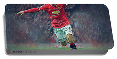 Wayne Rooney Portable Battery Charger by Semih Yurdabak