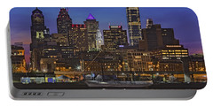 Welcome To Penn's Landing Portable Battery Charger by Susan Candelario