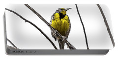 Western Meadowlark Portable Battery Charger by Amy Sorvillo