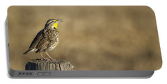 Western Meadowlark No 1 Portable Battery Charger by Belinda Greb