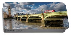 Westminster Bridge Portable Battery Charger by Adrian Evans