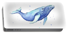 Whale Watercolor Humpback Portable Battery Charger by Olga Shvartsur