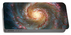 Whirlpool Galaxy  Portable Battery Charger by Jennifer Rondinelli Reilly - Fine Art Photography