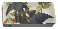 White Crowned Pigeon Portable Battery Charger by John James Audubon