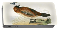 White Headed Duck Portable Battery Charger by English School