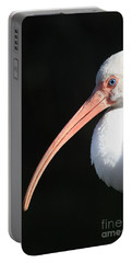 White Ibis Profile Portable Battery Charger by Carol Groenen