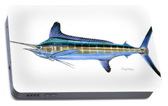 White Marlin Portable Battery Charger by Carey Chen