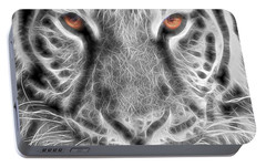 White Tiger Portable Battery Charger by Tom Mc Nemar