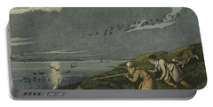 Wild Fowl Shooting Portable Battery Charger by Henry Thomas Alken