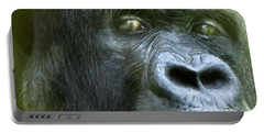 Wildeyes-silverback Portable Battery Charger by Carol Cavalaris