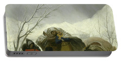 Winter Scene Portable Battery Charger by Goya