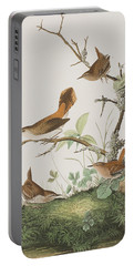 Winter Wren Or Rock Wren Portable Battery Charger by John James Audubon