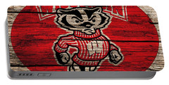 Wisconsin Badgers Barn Door Portable Battery Charger by Dan Sproul