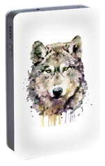 Wolf Head Portable Battery Charger by Marian Voicu