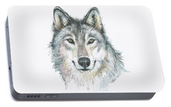 Wolf Portable Battery Charger by Olga Shvartsur
