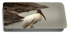 Wood Stork Walking Portable Battery Charger by Al Powell Photography USA