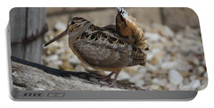 Woodcock Portable Battery Charger by Donna  Smith