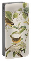 Yellow-breasted Warbler Portable Battery Charger by John James Audubon