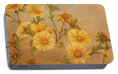 Yellow Daisies Portable Battery Charger by Angeles M Pomata