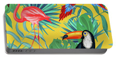 Yellow Tropic  Portable Battery Charger by Mark Ashkenazi