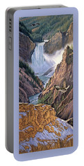 Yellowstone Canyon-osprey Portable Battery Charger by Paul Krapf