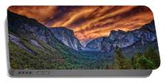 Yosemite Fire Portable Battery Charger by Rick Berk