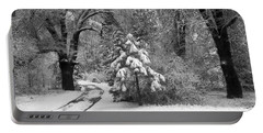 Yosemite Valley Winter Trail Portable Battery Charger by Underwood Archives