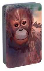Young Orangutan Portable Battery Charger by Donald Maier
