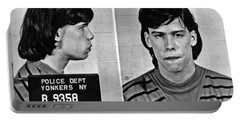 Young Steven Tyler Mug Shot 1963 Pencil Photograph Black And White Portable Battery Charger by Tony Rubino