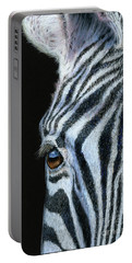 Zebra Detail Portable Battery Charger by Sarah Batalka