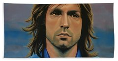 Andrea Pirlo Beach Sheet by Paul Meijering