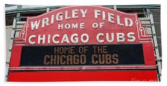 0334 Wrigley Field Beach Towel by Steve Sturgill