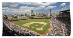 0415 Wrigley Field Chicago Beach Towel by Steve Sturgill