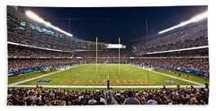 0588 Soldier Field Chicago Beach Towel by Steve Sturgill