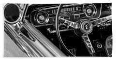 1965 Shelby Prototype Ford Mustang Steering Wheel Beach Towel by Jill Reger
