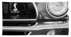 1968 Ford Mustang Fastback 427 Ci Cobra Grille Emblem Beach Sheet by Jill Reger