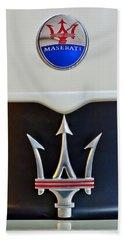 2005 Maserati Mc12 Hood Emblem Beach Sheet by Jill Reger