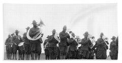 369th Infantry Regiment Band Beach Towel by Underwood Archives