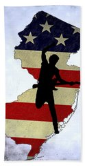Born In New Jersey Beach Towel by Bill Cannon