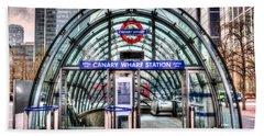 Canary Wharf Beach Sheet by David Pyatt