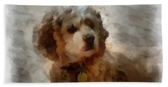 Cocker Spaniel Photo Art 01 Beach Sheet by Thomas Woolworth