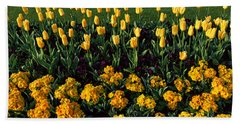 Flowers In Hyde Park, City Beach Towel by Panoramic Images