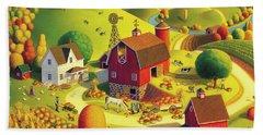 Harvest Bounty Beach Sheet by Robin Moline
