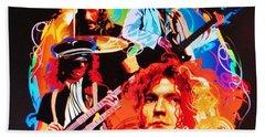 Led Zeppelin Art Beach Sheet by Donna Wilson