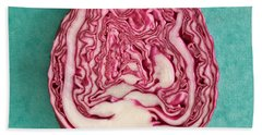 Red Cabbage Beach Towel by Tom Gowanlock